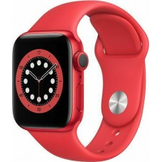 Watch Apple Watch Series 6 GPS 40mm Red Aluminum Case with Sport Band - Red