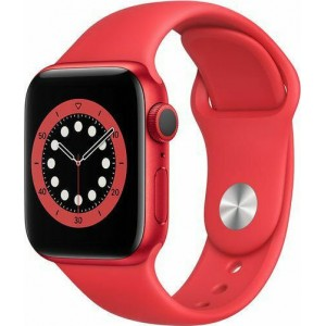 Watch Apple Watch Series 6 GPS 44mm Red Aluminum Case with Sport Band - Red