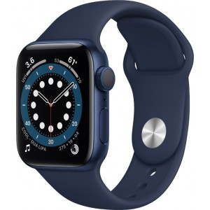 Watch Apple Watch Series 6 GPS 44mm Blue Aluminum Case with Sport Band - Deep Navy