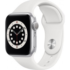 Watch Apple Watch Series 6 GPS 40mm Silver Aluminum Case with Sport Band - White