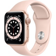 Watch Apple Watch Series 6 GPS 40mm Gold Aluminum Case with Sport Band - Pink Sand
