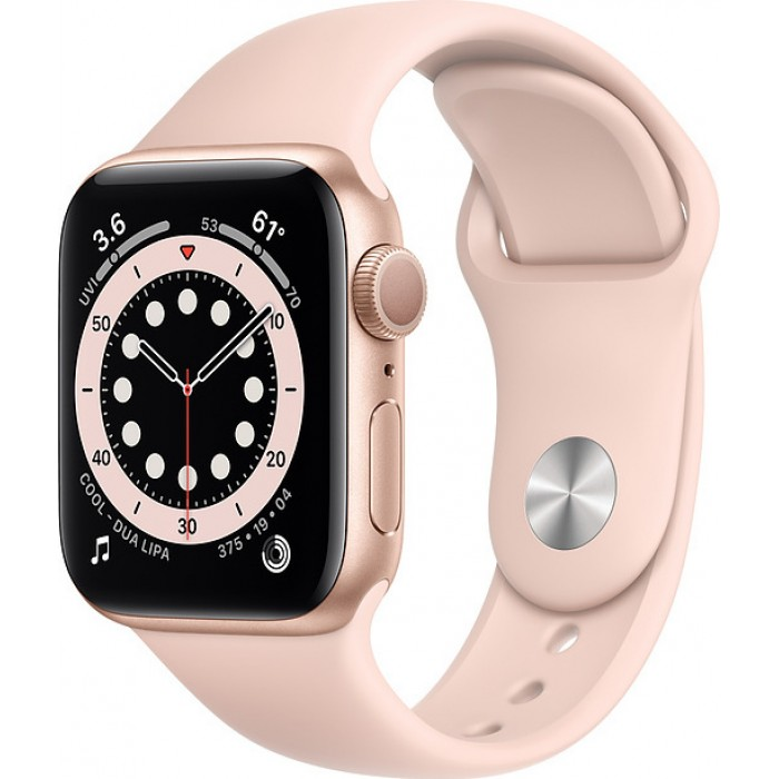 Watch Apple Watch Series 6 GPS 44mm Gold Aluminum Case with Sport Band - Pink