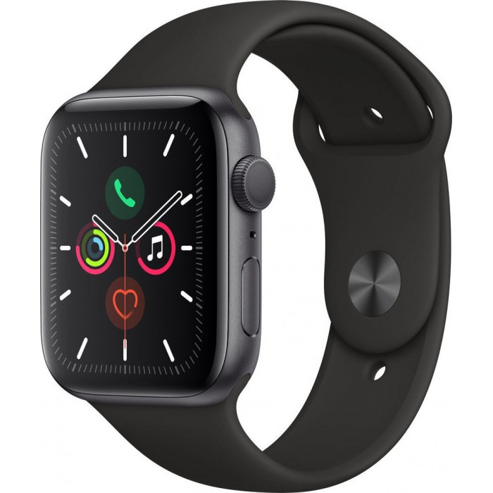 Watch Apple Watch Series 5 GPS 44mm Grey Aluminium Case with Sport Band-Black