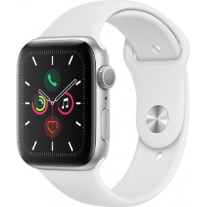 Watch Apple Watch Series 5 GPS 44mm Silver Aluminium Case with Sport Band-White