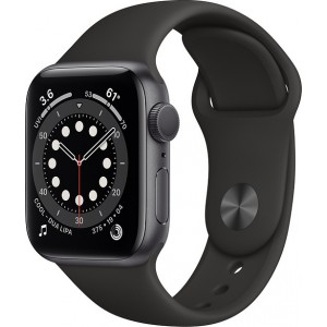 Watch Apple Watch Series 6 GPS 44mm Grey Aluminum Case with Sport Band - Black
